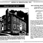 Relocation and Restoration of the George Ellicott House - Newspaper Clipping